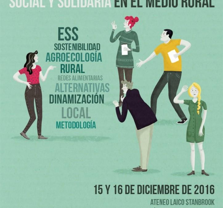 """Curs: """"Dinamització local i metodologies participatives per a l'Economia Social i Solidària en el medi rural"""", Saragossa, 15 i 16 de desembre"""