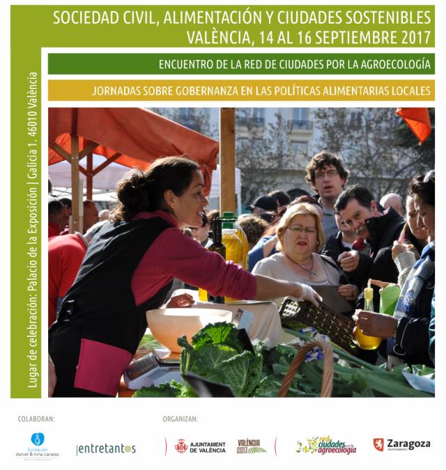 """Jornades: """"Societat Civil, alimentació i ciutats sostenibles"""", València, 15-16 setembre"""