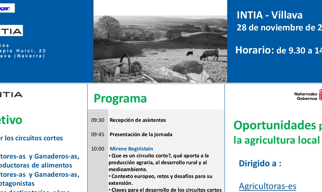 """Jornada: """"Circuits curts de comercialització"""", Villava, Navarra, 28 nov"""