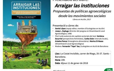Presentació del llibre Arraigar las instituciones. Propuestas de políticas agroecológicas desde los movimientos sociales