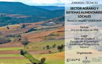 """Jornades tècniques: """"Sector agrario y sistemas alimentarios locales"""", Madrid, 23 i 24 de maig"""