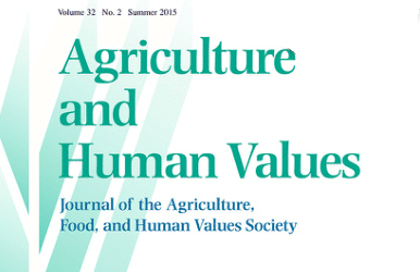 Article a la revista Agriculture and Human Values